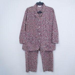 Victoria's Secret Red Animal Print Pajama Set
